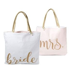 NEW BRIDE / MRS Large Reversable Tote